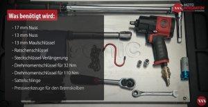 Werkzeuge Bremsbeläge